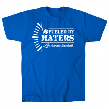 Los Angeles Baseball Fueled by Haters Mens T-Shirt