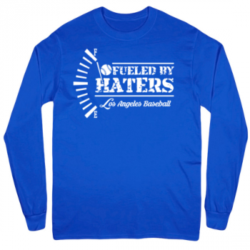 Los Angeles Baseball Fueled by Haters Mens Long Sleeve T-Shirt