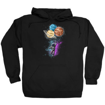 Astronaut Space Balloons Hoodie