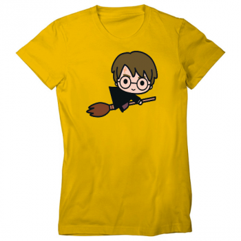 Broomstick Flying Womens T-Shirt