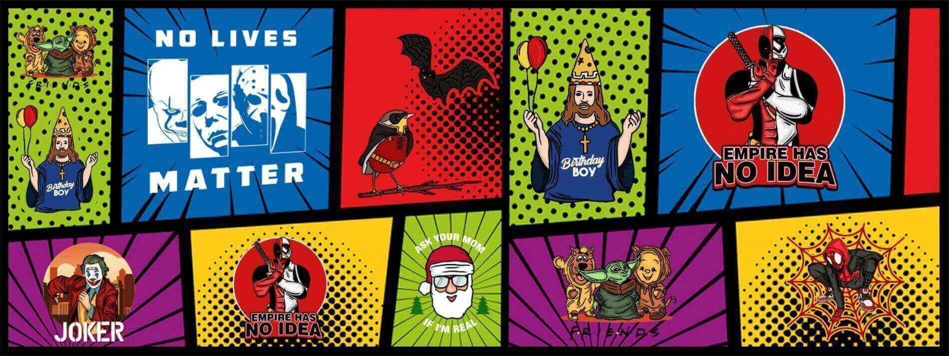 All of your favorite Pop Culture tees